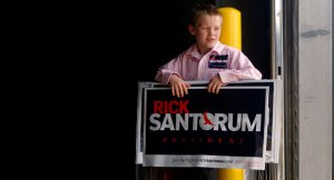 Justin Duggar campaigning for Republican Presidential Candidate Rick Santorum