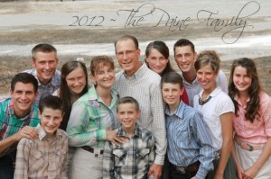 The Paine Family has their own blog at www.12paines.com  Chad Paine is second row first from the left (in the aqua shirt)