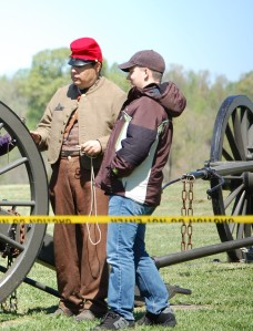D.J. at Saylers Creek in Virgina back in March 2012.  He got to fire the cannon in a Civil War Reenactment while we were there studying American History.