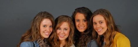Jana, Jill, Jessa & Jinger.  The oldest Duggar Girls.