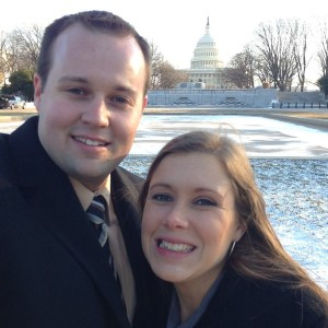 Josh and Anna Duggar in front of the Capitol in Washington, D.C.