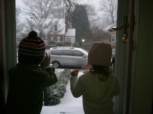 Their first snow......such sweet memories that will stay with my family forever.