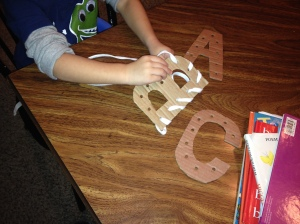 Make Your Own Lacing Letters