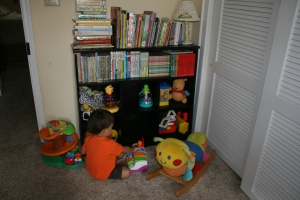 The original nursery that we had prepared for our future foster children.