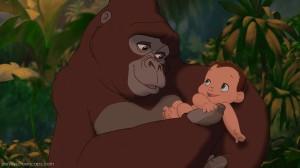 Tarzan+kala+holds+baby+tarzan